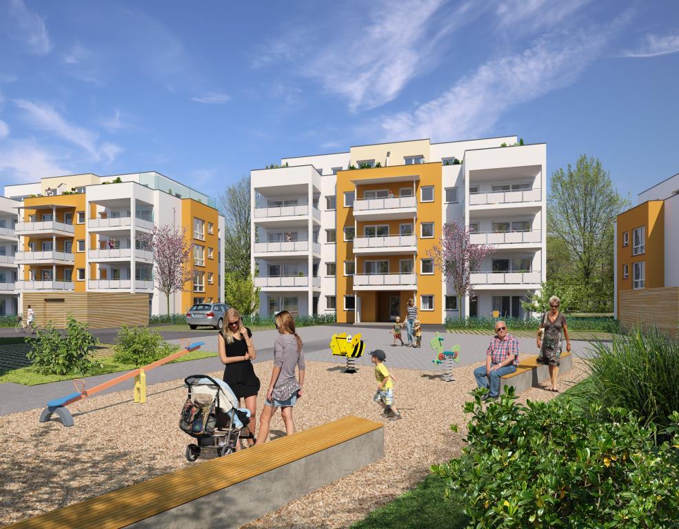 barrierefreie penthouse-wohnung mit großer dachterrasse und, Wohnzimmer dekoo